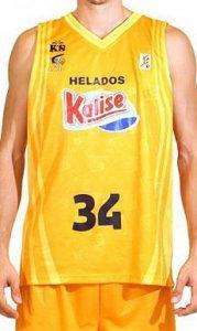 Baloncesto Kalise Gran Canaria 2008 – 2009 home jersey