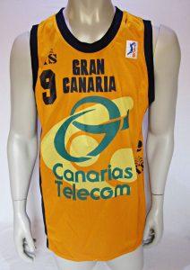 Club Baloncesto Gran Canaria – Claret 1999 – 2000 home jersey