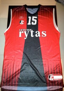 Lietuvos rytas 2008 -09 home jersey