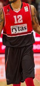 BC Lietuvos rytas 2016 – 2017 home jersey