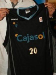 Cajasol Sevilla 2007 – 2008 home jersey