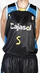 Baloncesto Cajasol Sevilla 2008 – 2009 home jersey