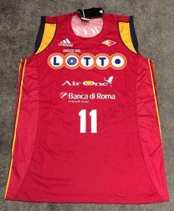 Lottomatica Roma 2007 – 2008 away jersey