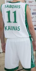 Basketball Club Žalgiris Kaunas 2009 – 2010 away uniform