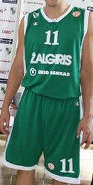 Basketball Club Žalgiris Kaunas 2009 – 2010 home kit