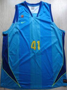 AXA FC Barcelona 2007-2008 away jersey