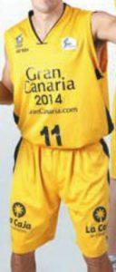 Baloncesto Gran Canaria 2014 2011-2012 home jersey