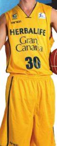 Club Baloncesto Gran Canaria Herbalife 2012-2013 home jersey