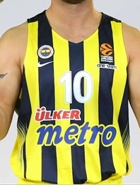 Fenerbahçe basketball 2016-17 home jersey
