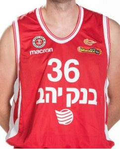 Hapoel Jerusalem Basketball 2017-18 home jersey