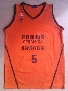 Pamesa Valencia Basket 2006-2007 home jersey