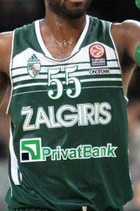 Žalgiris Kaunas 2013-14 home jersey