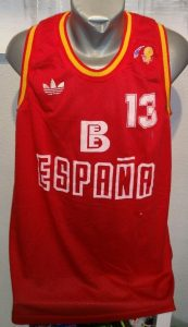 Spain 1985 – 1986 Home kit World Cup Mundobasket 86