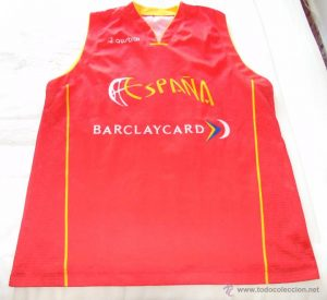 Spain 2002 – 2003 Home kit Eurobasket 2003 Sweden silver medal
