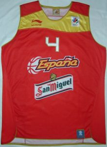 Spain home kit eurobasket 2009