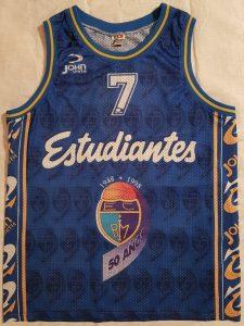 Estudiantes 1997 – 1998 home kit 50th anniversary