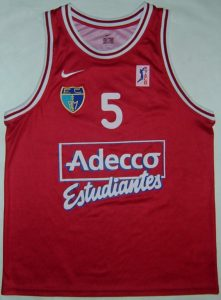 Adecco Estudiantes 2000 – 2001 away kit