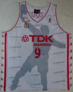 TDK Manresa 1997 – 1998 Away kit ACB champions