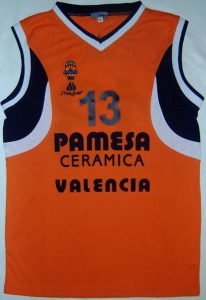 Pamesa Valencia Basket 2002-2003 home jersey