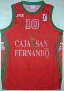 Caja San Fernando Sevilla Baloncesto 1995 – 1996 home kit