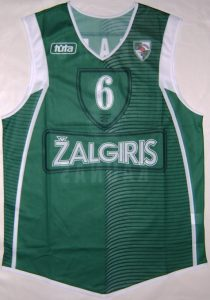 Basketball Club Žalgiris Kaunas 2005 – 2006 home kit