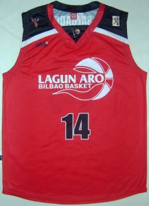 Lagun Aro Bilbao Basket 2004 -05 away jersey