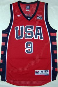 USA 2004 olympic games red jersey