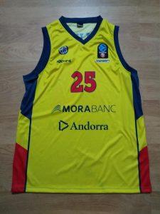 Morabanc Andorra Bàsquet 2017 -18 away jersey