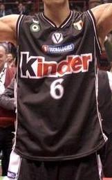 Kinder Bologna 2001- 02 away jersey