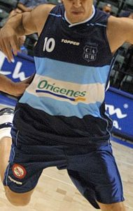 Argentina 2002 FIBA world cup second (away) kit