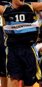 Argentina Beijing 2008 away kit