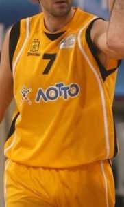 Aris Thessaloniki Basketball 2011-12 home kit