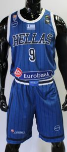Greece 2019 alternate blue striped kit retro style