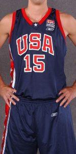 USA  2002 FIBA world cup  away kit