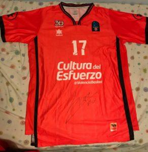 Valencia Basket Club warmup shirt