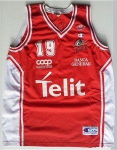 Telit Trieste pallacanestro 2000 – 01 away jersey