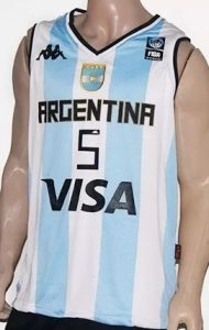 Argentina 2014 FIBA world cup home kit