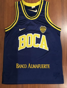 Boca Juniors 1996-97 home kit