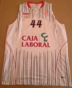 Caja Laboral Vitoria 2010 -11 home jersey