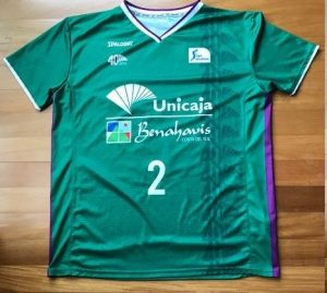 Unicaja Malaga 2016 -17  short sleeve green jersey