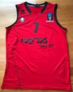 Retabet Bilbao Basket 2017 -18 red jersey