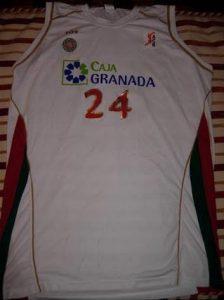 Baloncesto Caja Granada 2007 -08 away jersey