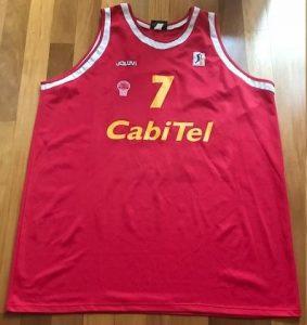 Cabitel Gijón baloncesto 1999 – 2000 Home jersey