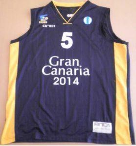 Baloncesto Gran Canaria 2011 -12 away jersey