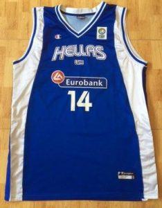 Greece 2007 eurobasket first jersey