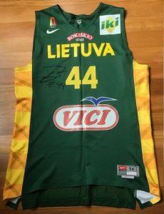 Lithuania 2015 eurobasket Home jersey