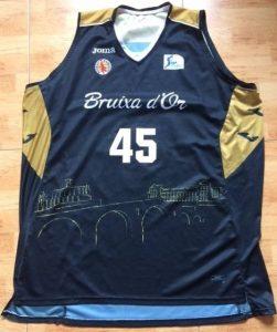 Bruixa d'Or Manresa 2014 -15 away black jersey