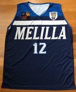 Baloncesto Melilla 2018 -19 Home jersey