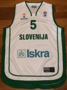 Slovenia 2008-09 away jersey