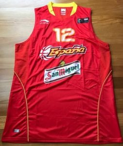 Spain 2010 FIBA world cup first jersey